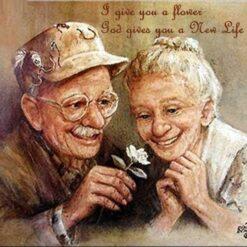 Ældre ægtepar - Diamond Paint