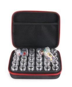 Taske med 30 bøtter til Diamond Paint perler - Diamond Paint