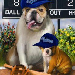 Baseball hunde - Diamond Paint