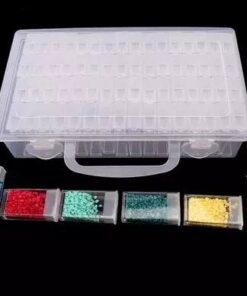 Klar opbevaringsboks med 64 rum - Diamond Paint