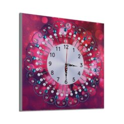 Rødt ur - Diamond Paint