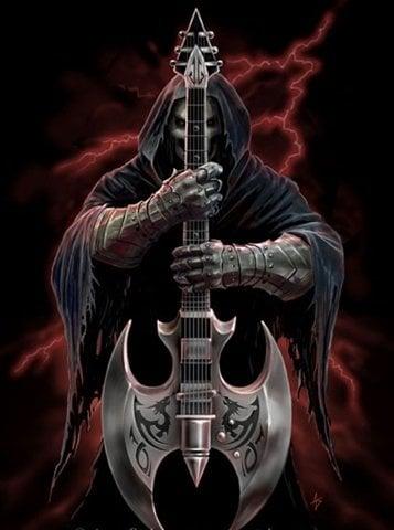 Image of Døden med guitar