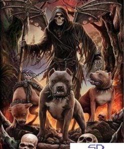 Døden med sine hunde - Diamond Paint