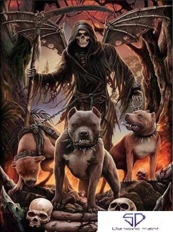 Image of Døden med sine hunde