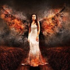 Engle med brændende vinger - Diamond Paint