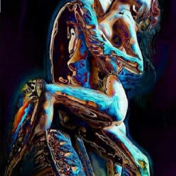 Forelsket par i farver - Diamond Paint
