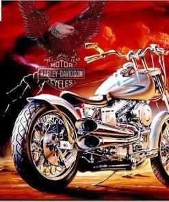 Harley Davidson motorcykel - Diamond Paint