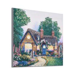 Hus ved skoven - Diamond Paint