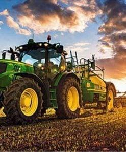 John Deer traktor - Diamond Paint