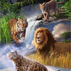 Kattedyr ved vandfald - Diamond Paint
