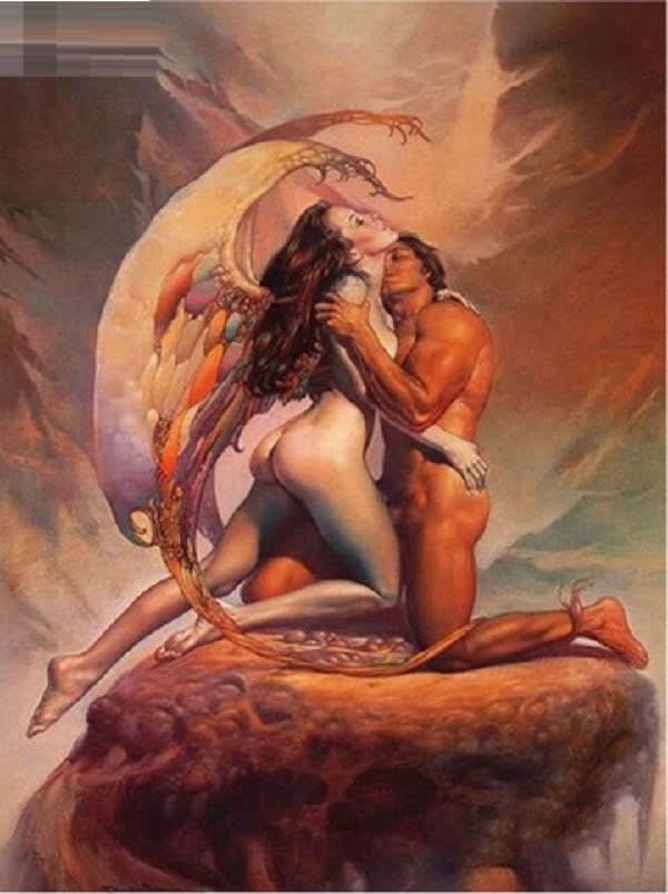 Nøgen engel og mand thumbnail