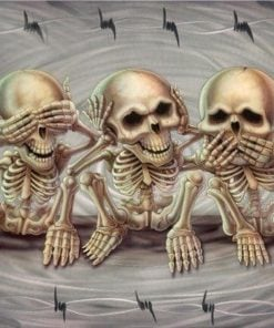 Skeletter ikke se høre tale - Diamond Paint