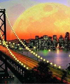 Sunset Bridge - Diamond Paint