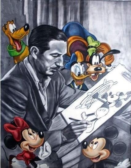 Walt Disney med figurer - Diamond Paint