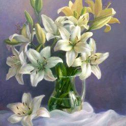 Linjer i vase - diamond paint