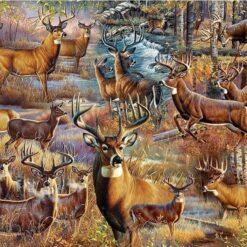Mange hjorte - diamond paint