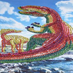 Dinosaur i skinnende diamanter - Diamond Paint