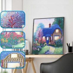 Hus i bling - Diamond Paint