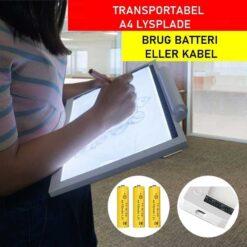 A4 transportabel lysplade - Diamond Paint
