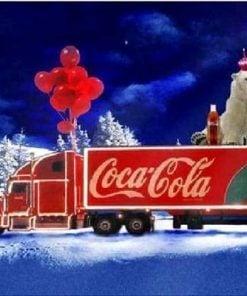 Isbjørn på Coca Cola lastbil - Diamond Paint