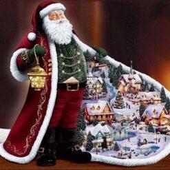 Julemand med kåbe - Diamond Paint
