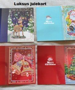 Luksus julekort sæt - Diamond Paint