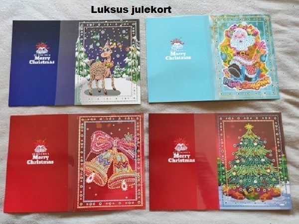 Image of   Luksus julekortsæt med 4 julekort