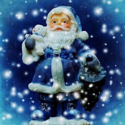 Blå julemand - diamond paint