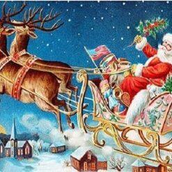 Julemand flyver i kanen - diamond paint