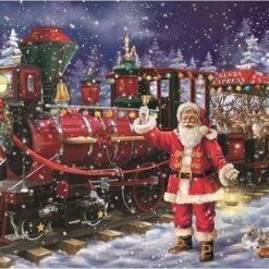 Julemand med juletog - diamond paint