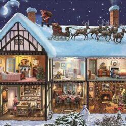 Julemand på hustag - diamond paint