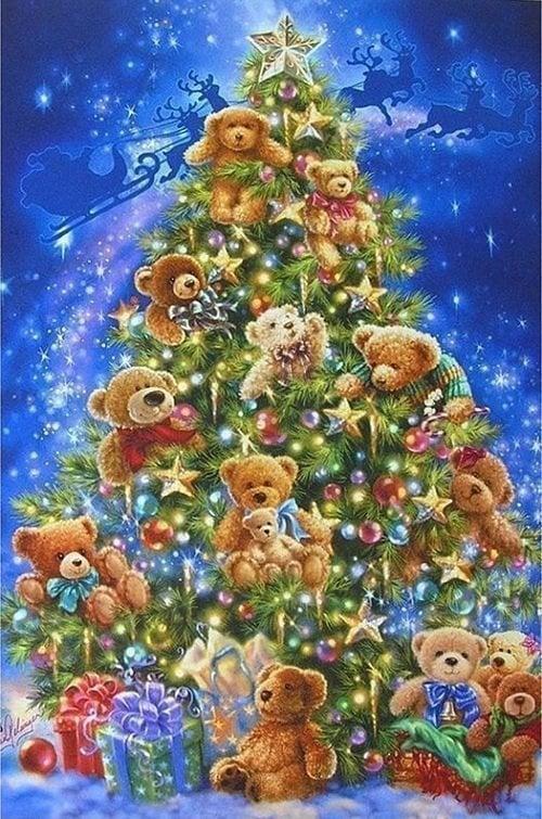 Billede af Juletræ med bamser