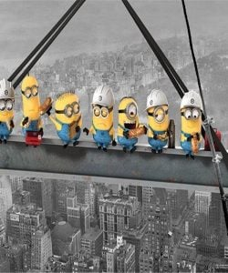 Minions over New York - diamond paint