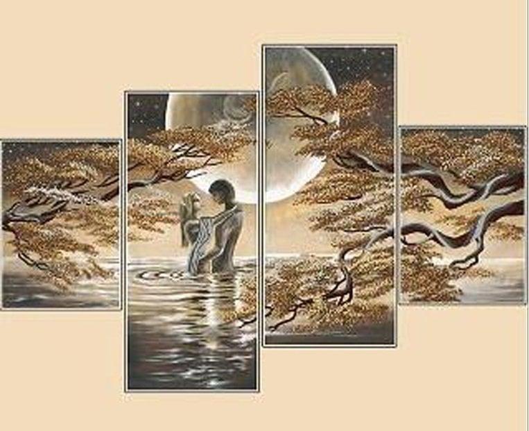 Image of 2 mennesker i en sø - 4 delt