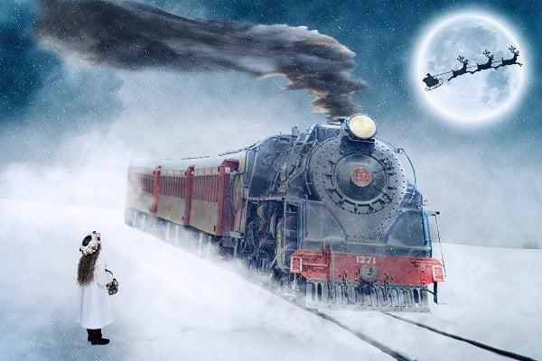 Lokomotiv og flyvende julemanden
