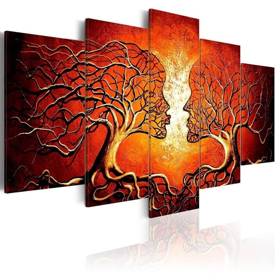 Image of 2 kyssende træer - 5 delt
