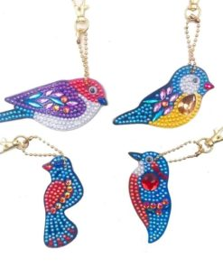 Diamond Paint halskæde med fugle