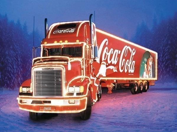 Image of Coca cola lastbil
