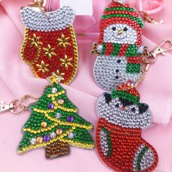Diamond Paint nøglering med julemotiver