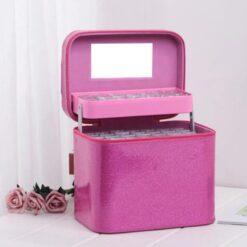 Pink boks med 126 bøtter - Diamond Paint
