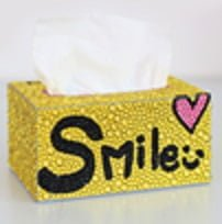 Smile servietboks - Diamond Paint