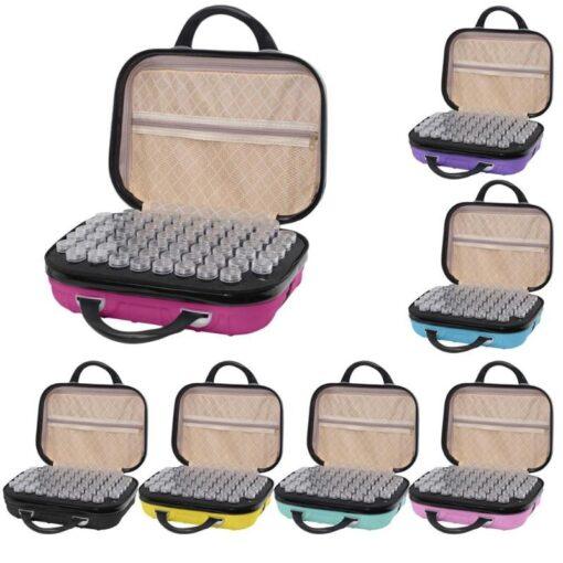 Taske med 132 bøtter forskellige farver - Diamond Paint