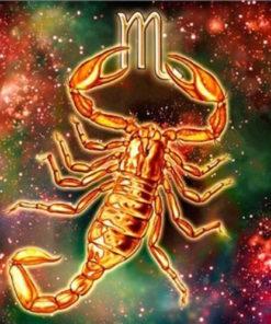 Stjernetegn Skorpion - Diamond Paint