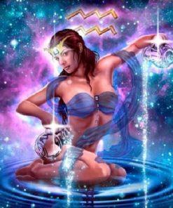 Stjernetegn Vandmand - Diamond Paint