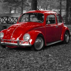 VW bobbel rød - Diamond Paint