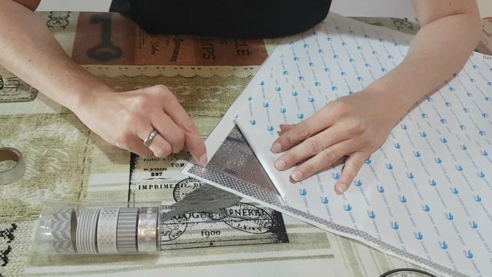 Brug washi-tape til diamond painting