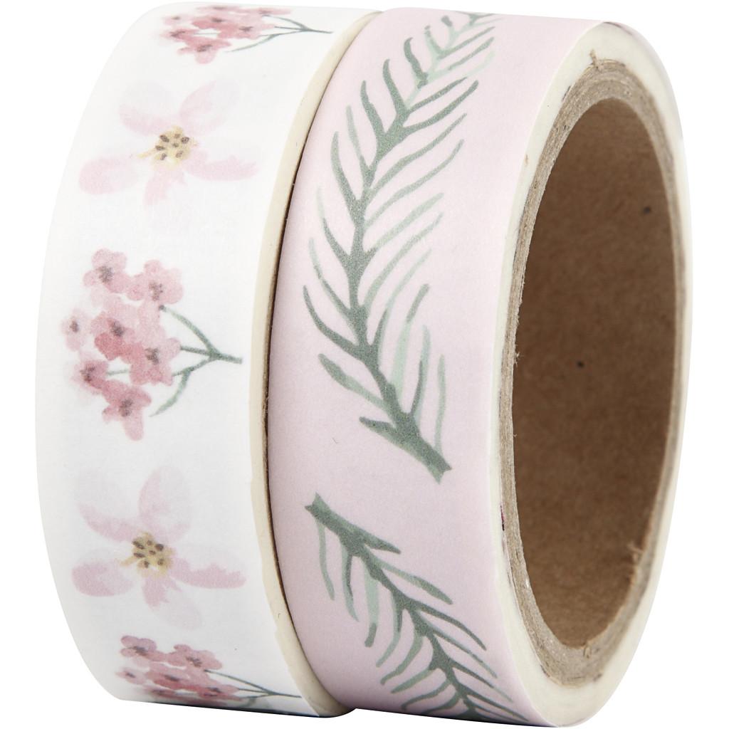 Washi-tape med blomster