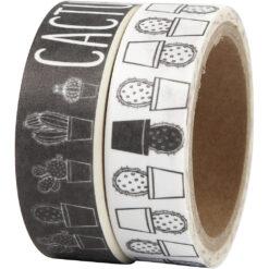 Washi-tape med kaktusser