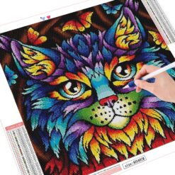 Kat i mosaik-stil