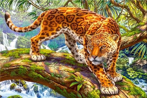 Diamond Painting - Leopard pa%CC%8A gren thumbnail